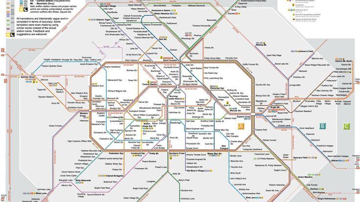 Wir sind dafür, dass dieser Plan in allen Stationen ausgehängt wird. Dann kann die Bahn ruhig mal wieder später kommen, es gibt genug Lustiges zu entdecken.