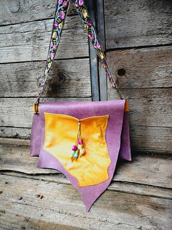 Anniversary Gifts For Women Birthday Gift Leather Bag Purple Her Boho