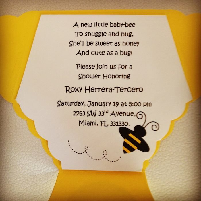 bee baby shower theme ideas   Bee Themed Baby Shower with So Many ADORABLE IDEAS via Kara's Party ...