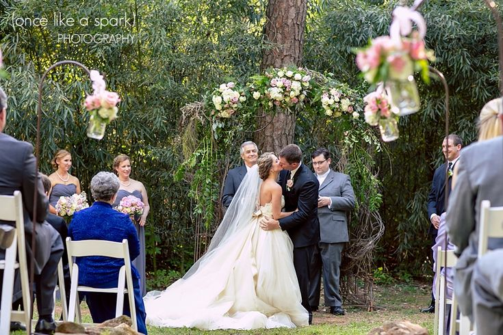 Trellis Outdoor Wedding Ceremonies: Husband And Wife, Outdoor Wedding Ceremony, Candid Moments