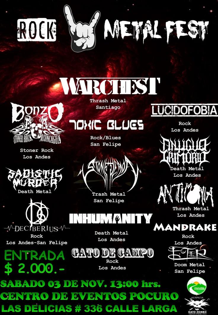 3 de Noviembre: Rock Metal Fest en Los Andes