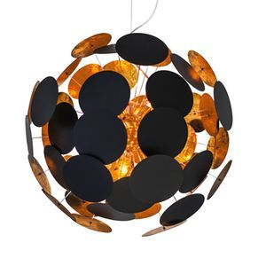 Planet taklampe 50 - Sandsvart - Lightup.no - Nettbutikk med belysning, utebelysning og utelamper