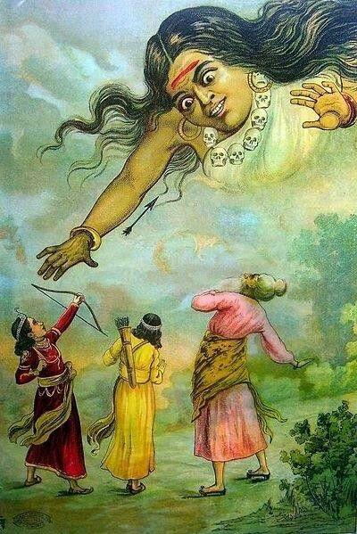 Rama defeats Tataka