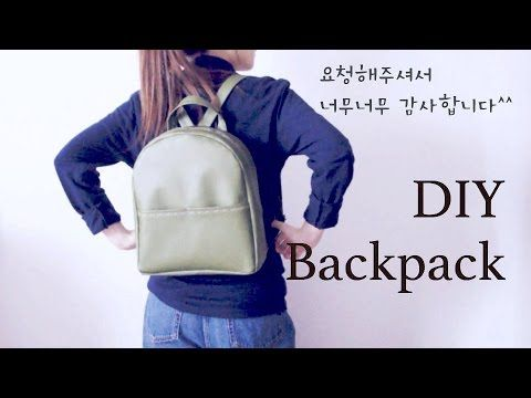 Sewing + DIY Backpack - YouTube                                                                                                                                                                                 More