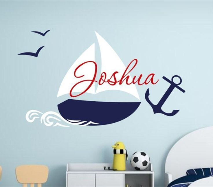 Custom Name Boys Room Nautical children name wall decal sailing boat wall  sticker for boy nursery. 25  best ideas about Name Wall Decor on Pinterest   Future house