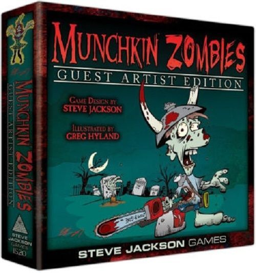 Zombie Board Game Munchkin Cards Art Teen Adult Age 10 Up Illustrate Greg Hyland #JacksonSteveGamesIncorporated