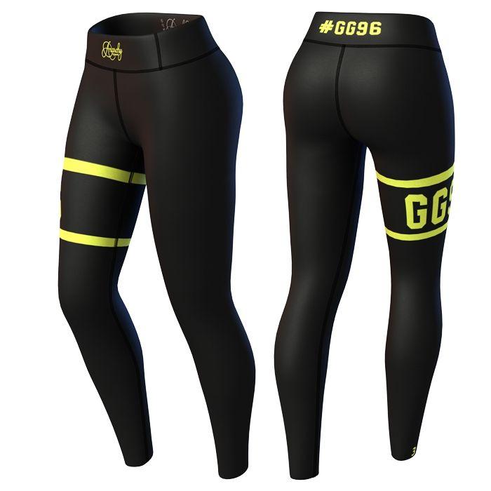 Kjøp Champion Legging, black/yellow hos Gymgrossisten