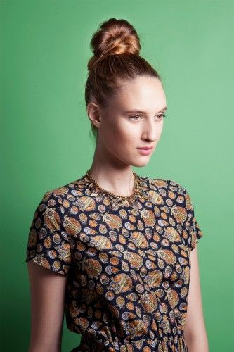 Top Knot How To - Finished Look by Butterfly Studio stylist Dana Tizzio for Refinery29
