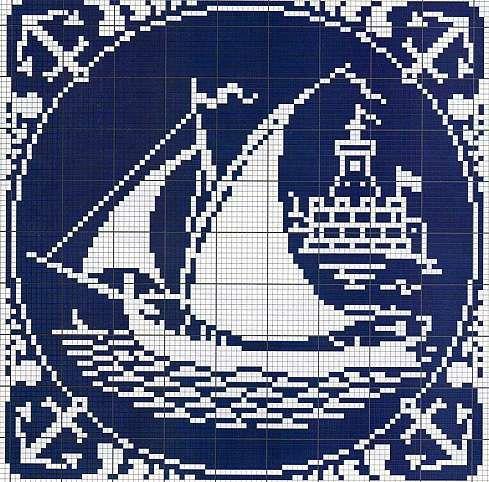 Cross-stitch Nautical Silhouette...   Gallery.ru / Фото #1 - Монохром - elena-555