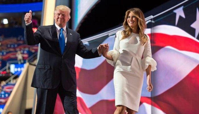 Donald y Melania Trump en la convención del Partido Republicano. Foto: facebook.com/DonaldTrump.
