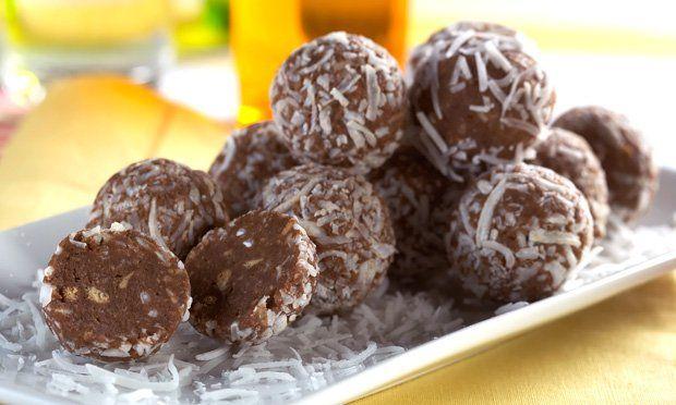 Trufa de biscoito e chocolate
