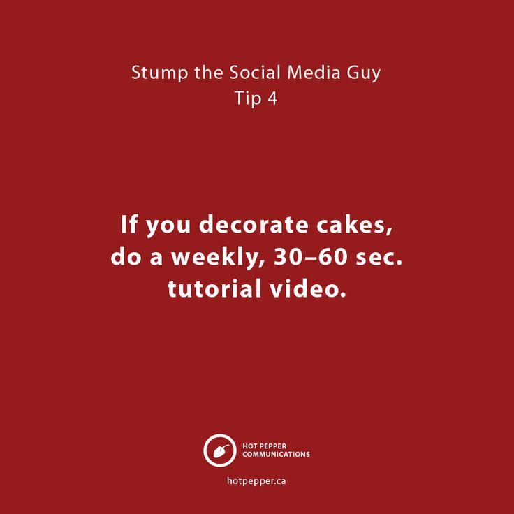 Stump the Social Media Guy: Tip 4, Cake decorator