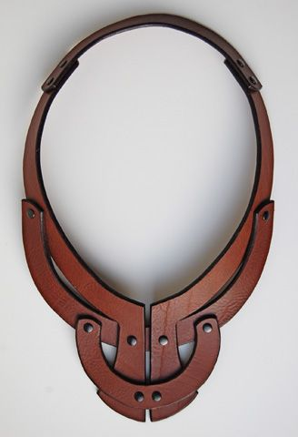 Leather Necklace - Anuk Harvey - Knitwear and leather accessories designer