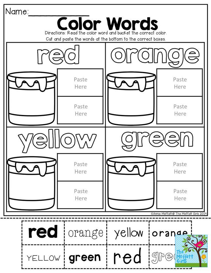 Best 25+ Color words kindergarten ideas on Pinterest