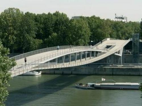 pedestrian bridge simone de beauvoir footbridge pinterest. Black Bedroom Furniture Sets. Home Design Ideas