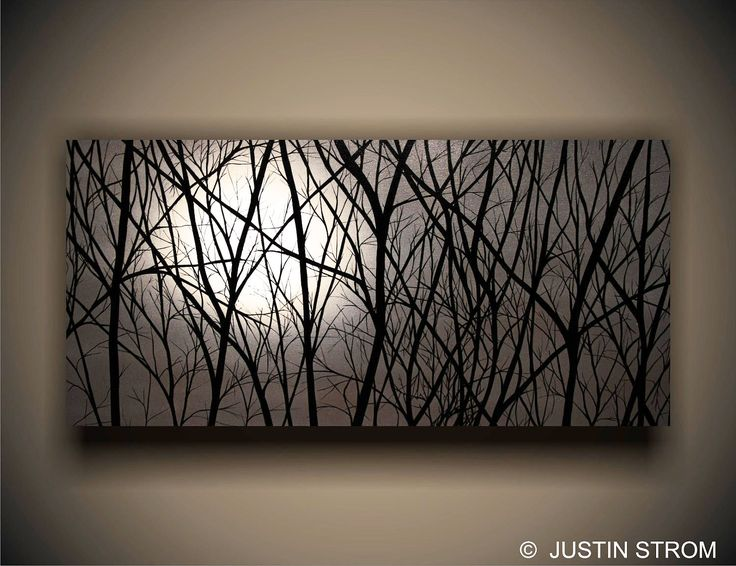 """""""Moonlight"""" painting by Justin Strom 4' x 2' canvas gallery wrapped."""