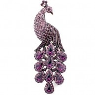 100% brand new and exquisitely detailed designer style brooch pin.It's great for wearing on your hat, coat, jacket, jean,handbag and purse.The best one for wedding, party and gift.: Brooches Pin, Crystals Birds, Austrian Crystals, Style Amethysts, Birds Pin, Purple Peacocks, Peacocks Brooches, Amethysts Purple, Pin Brooches