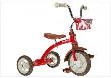 Tricycle rétro en métal rouge