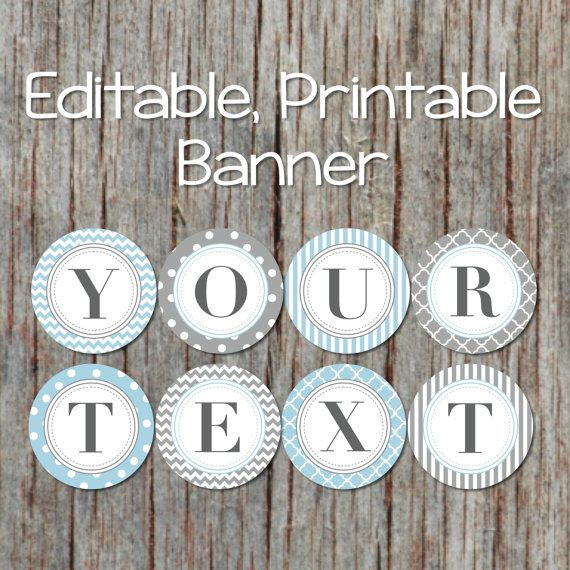 editable banner for any occasion