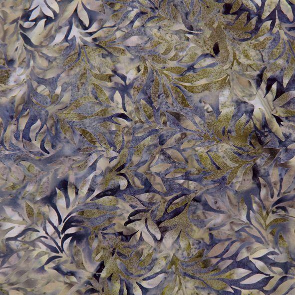Bavlněná látka Batika Bali lístky zeleno-modré BB Látka vhodná na ubrusy, závěsy, polštáře apod. 100% bavlna, š. 110 cm
