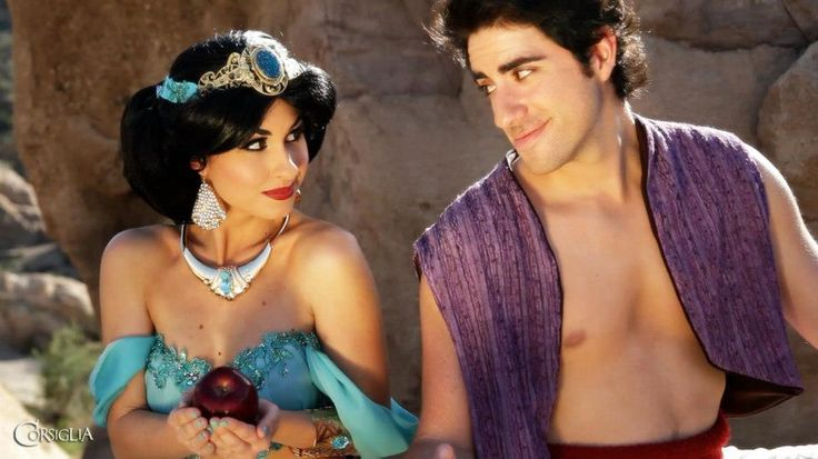 Traci Hines [as Jasmine] & Leo Camacho [as Aladdin] (Cosplay by TraciHinesMusic @Facebook) #Aladdin