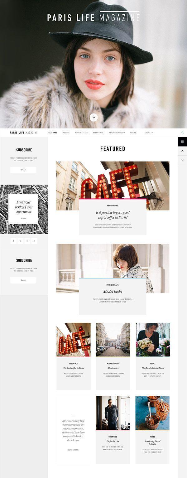 Paris Life on Web Design Served