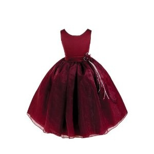 New Burgundy Flower Girl Wedding Holiday Party Dress Size Toddler to 12