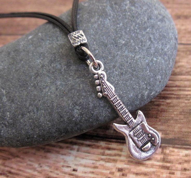 Men's Necklace - Men's Guitar Necklace - Men's Silver Necklace - Mens Jewelry - Necklaces For Men - Jewelry For Men - Gift for Him by Galismens on Etsy https://www.etsy.com/listing/225960892/mens-necklace-mens-guitar-necklace-mens