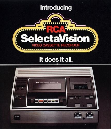 1970's RCA SelectaVision - Video Cassette Recorder