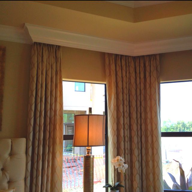 Curtains Behind Crown Molding Like The Idea Home