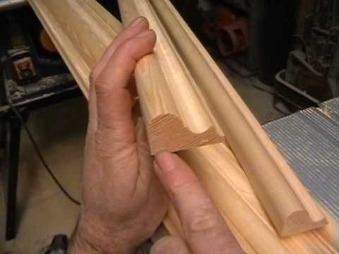 ▶ DIY Making a Door, part 5. timber mouldings cut with basic router - YouTube