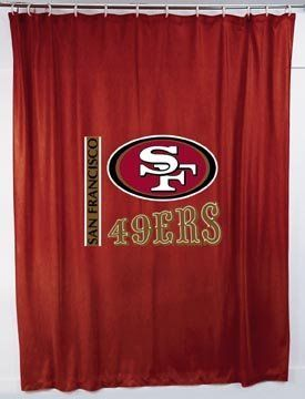 San Francisco 49ers #NFL Shower Curtain. 72 X 72 Inch 100% Polyester Mesh