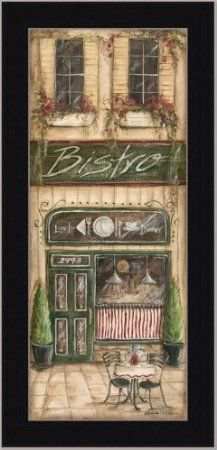Bistro Cafe French Country Kitchen Decor Print French Cafe Kitchen Theme