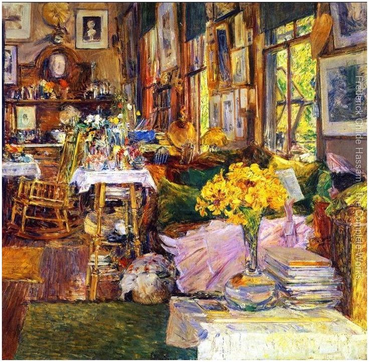 Художник Frederick Childe Hassam | 1859-1919гг.. Обсуждение на LiveInternet - Российский Сервис Онлайн-Дневников The Room of Flowers.