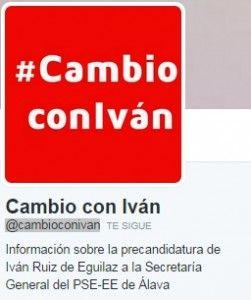 Sobre como comunican en Twitter los precandidatos a la secretaria general del PSE en Álava