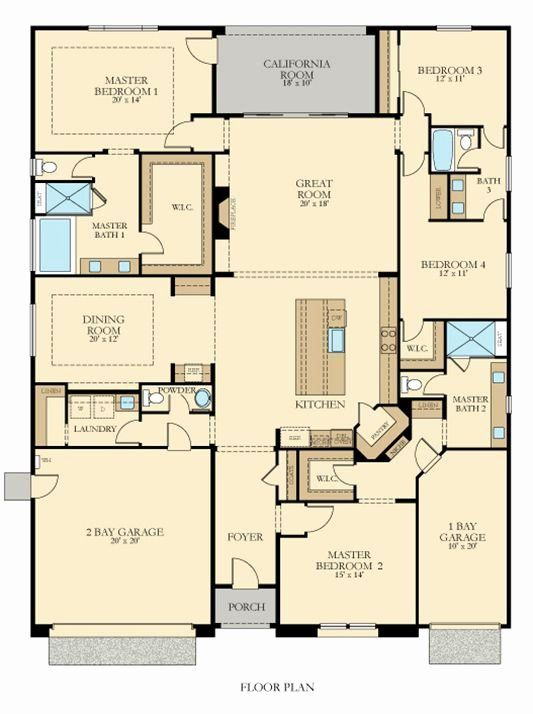 3 Master Bedroom House Plans Unique Wouldn T It Be Sweet If You Had A Home With A Dual Master In 2020 New House Plans Family House Plans House Plans One Story