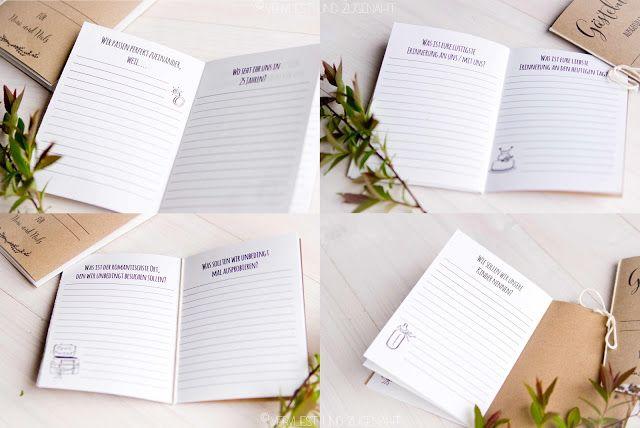 Vervliest und zugenäht: Mini - Gästebücher aus Kraftpapier {Hochzeits-DIY} {Print Freebie}