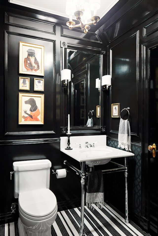 Best 25 Black Bathrooms Ideas On Pinterest  Concrete Bathroom Glamorous Small Black Bathrooms Design Decoration