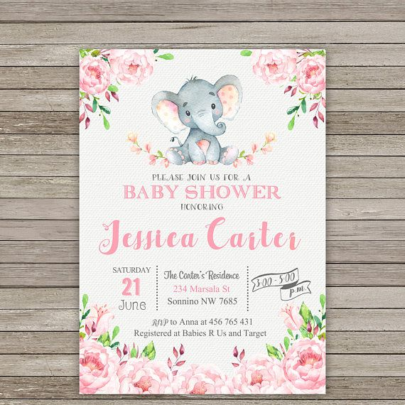 25 best ideas about Elephant baby showers – Baby Birth Party Invitation