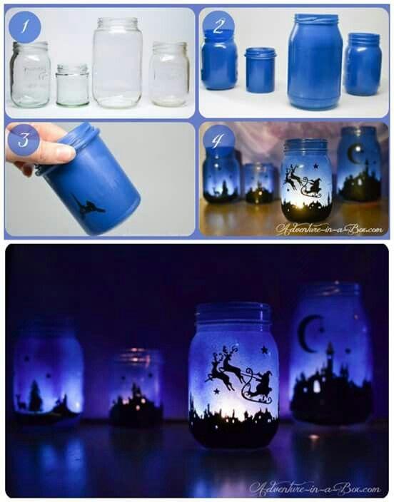 Christmas craft idea using jars
