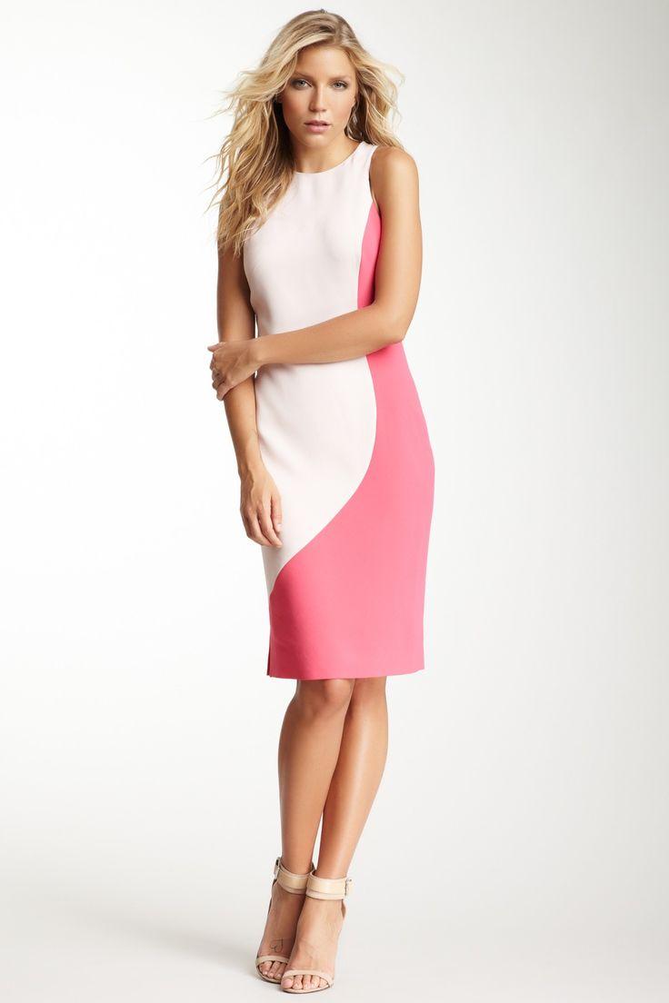 Sculpted Colorblock Dress