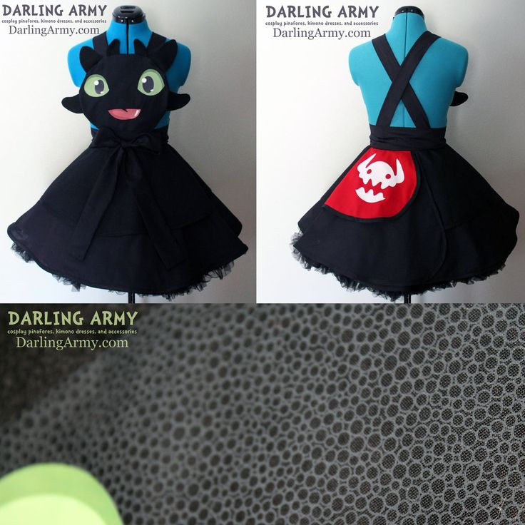 Toothless HtTYD Cosplay Pinafore Dress Accessory by DarlingArmy.deviantart.com on @DeviantArt
