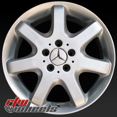 "Mercedes ML Class wheels for sale 1998-2001. 17"" Silver rims 65182 - http://www.rtwwheels.com/store/shop/17-mercedes-ml-class-wheels-for-sale-silver-65182/"