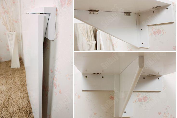 Sobuy mesa plegable de pared escritorios mueble infantil mesa de cocina fwt04 es ebay mesas - Mesa plegable pared ...