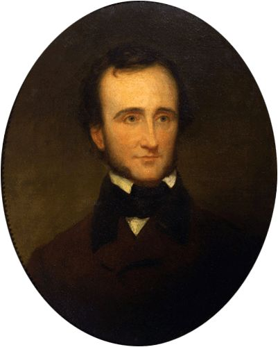 Samuel Stillman Osgood (1808-1885), Edgar Allan Poe, 1845, oil on canvas (67.9 × 55.9) cm, New-York Historical Society.