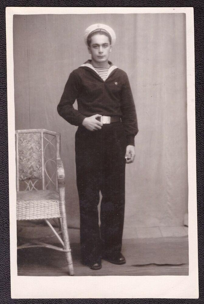 Old Soviet Vintage Photo Handsome Young Boy Man Sailor ...