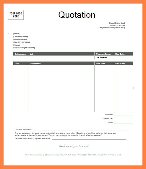 Quote template wordquote template word quotation templatepng Sales Report Template #SampleResume #WordQuotationTemplate