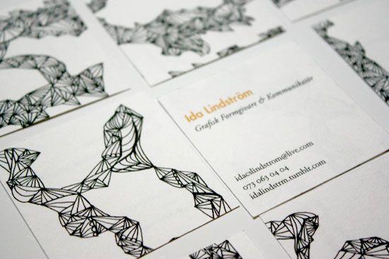 Visitkorts pussel med olika baksidor - Går det att lösa? ©idalindström