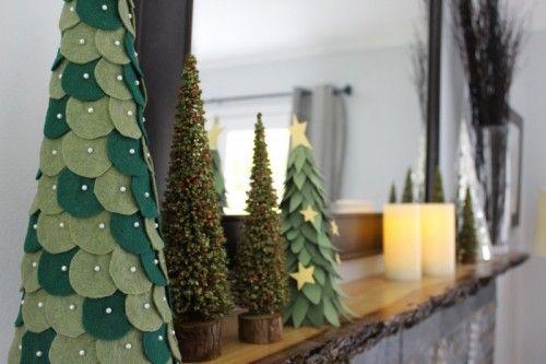 árbol de navidad de fieltro #manualidades #navidad #decoracion