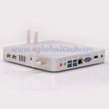 Встраиваемые системы Linux XBMC без вентилятора мини-пк 15,6-дюймовый Barebone PC с процессор Intel i3 процессор для стример видео Intel графики HD видеокарта 4400 двойной wi-fi антенны